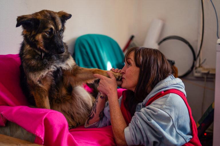 Bettina und Hunde
